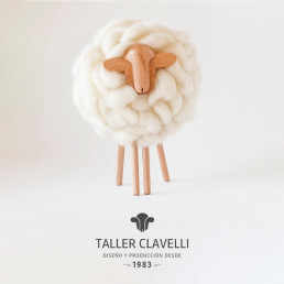 mouton en laine naturelle handmade home design
