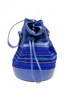 yacana paris - sac bourse - sac Quito Bleu