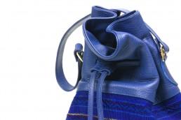 yacana paris - sac bourse - sac - bucket bag - bleu- faja - éthique - équateur - sac quito shigra cognac - fait main - handmade - éthique - gypset -sac quito