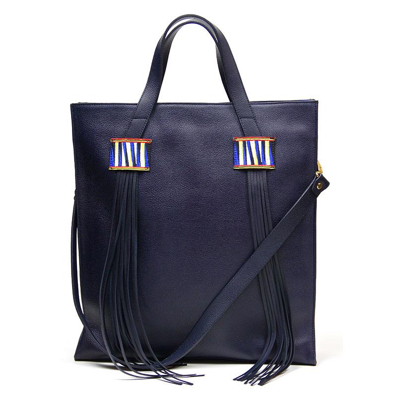 yacana paris - porte document - cuir- ordinateur - sac à main - bleu - éthique - pérou - fait main - handmade - handbag - éthique - gypset -sac andino - glamour