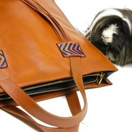 yacana paris - porte document - cuir- ordinateur - sac à main - gold - éthique - pérou - fait main - handmade - handbag - éthique - gypset -sac andino - glamour