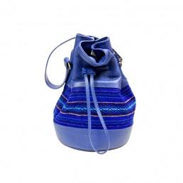 yacana paris - sac bourse - sac - bucket bag - bleu - faja - éthique - équateur - sac quito shigra cognac - fait main - handmade - éthique - gypset -sac quito