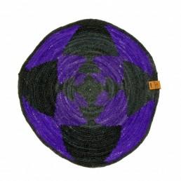 Centre de Table YACANA Petit Noir Violet en Croix