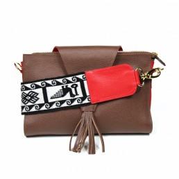 yacana - paris - sac - cuenca - gold and red - pochette cuir