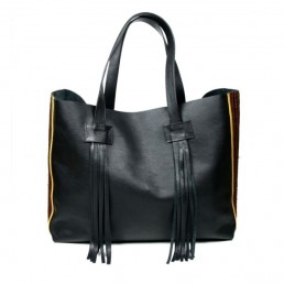 yacana paris - sac otavalo - black and brown - noir - marron - cabas