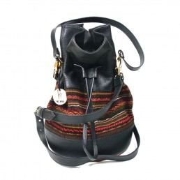 yacana paris - sac quito -black and brown -noir et marron - bourse