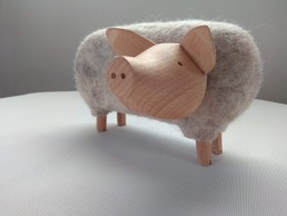 carlos clavelli, sculpteur, déco, yacana, cochon