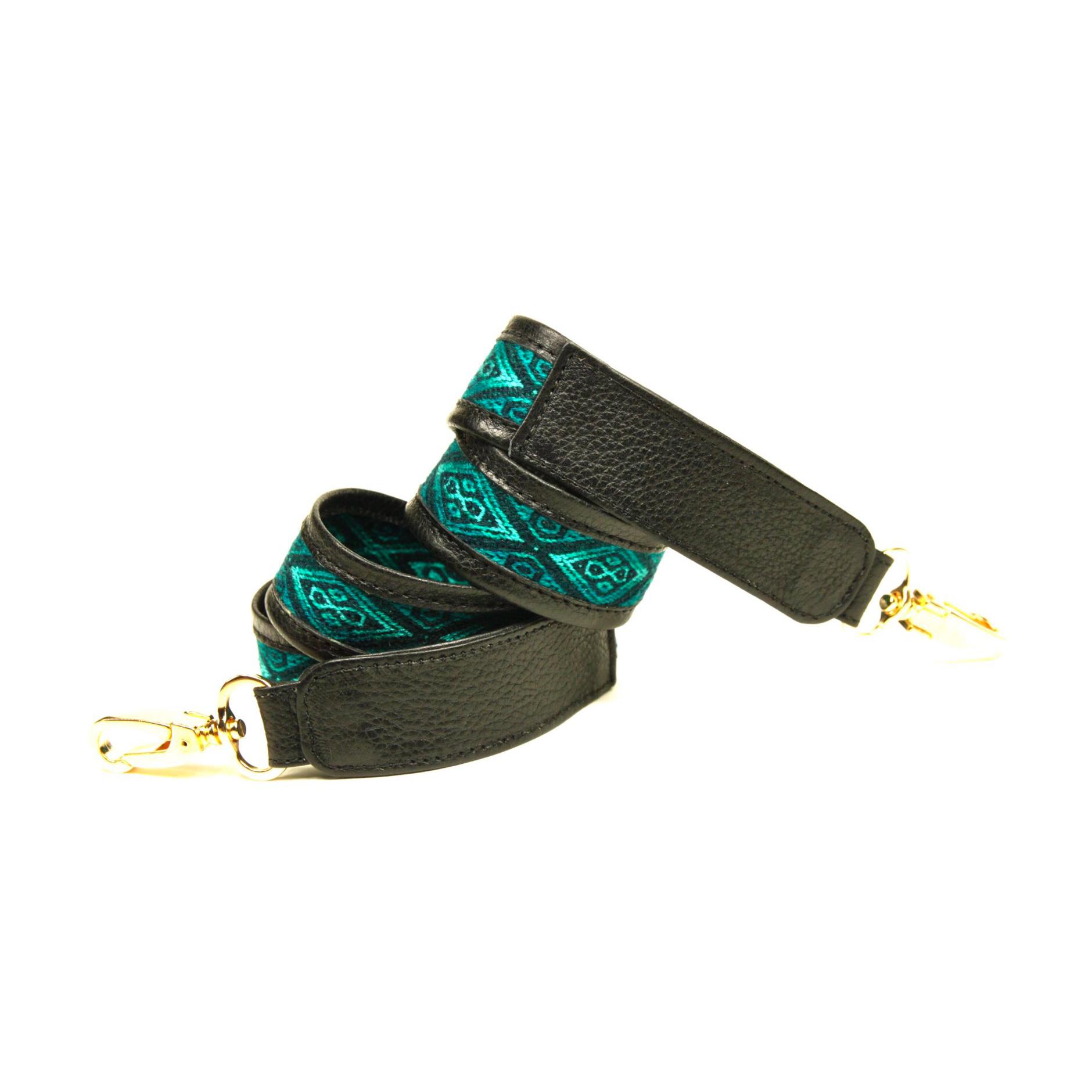 bandoulière de sac yacana faja verte