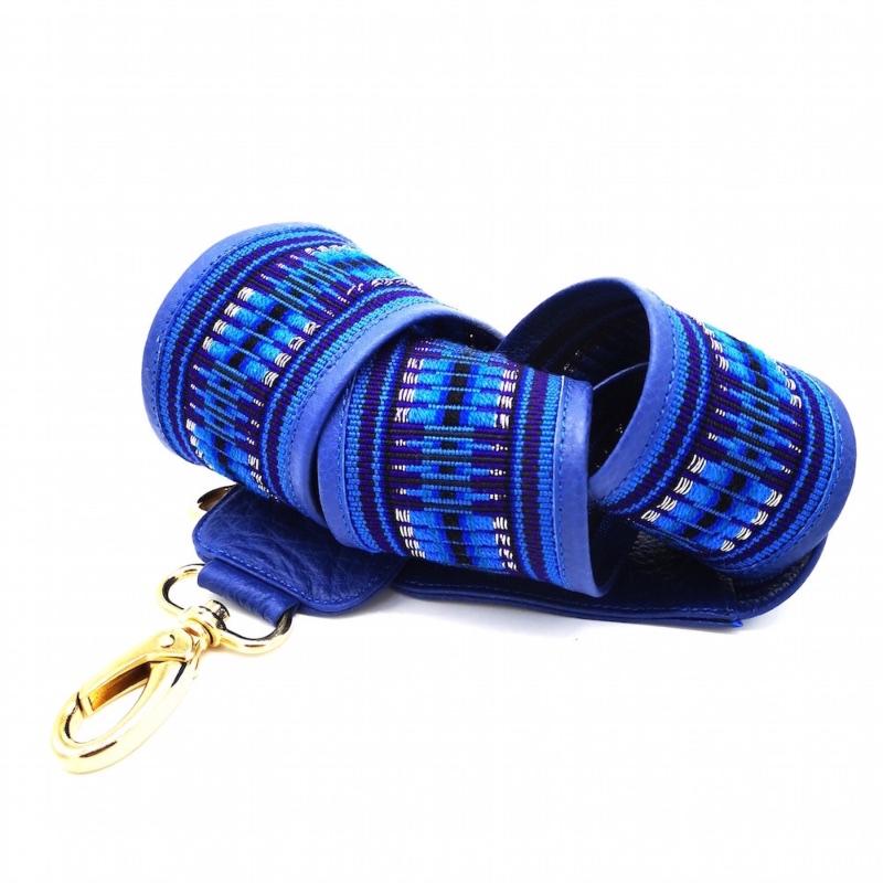 bandoulière de sac faja large bleu yacana