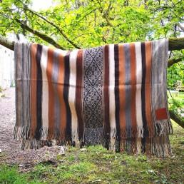 plaid couverture péruvienne yacana motifs traditionnels