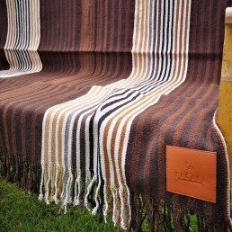 plaid couverture péruvienne yacana marron fine rayures