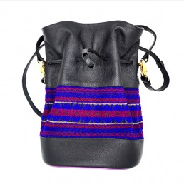 sac bourse quito Black and Purple by yacana handmade in Amérique-Latine