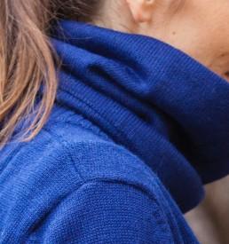 cache cou bleu en baby alpaga by yacana